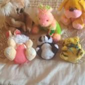 лот 6 мягких игрушек за ценою одной
