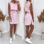 Платье-рубашка новое, Размер - M, L