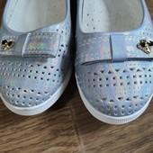 ДеНеимоверные туфельки балетки с перфорацией стелька 20,0 см