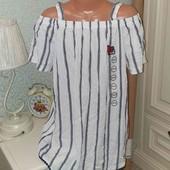 Очень класная блуза с приспущеным рукавом S-M