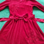 Велюровое платье детское