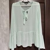 Фирменная красивая шифоновая блуза в отличном состоянии р.18-22