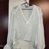 Asos uk8 золотистая блуза