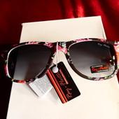 Солнцезащитные очки Ray Flector, черные с цветами