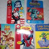 Обучающие книги +диски к платформе leap frog