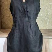 Собираем лоты!!! Платье на подкладке, размер 12,100%лен