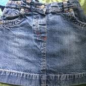 Джинсовая юбка 4-6 лет
