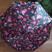 Женский Зонт полный автомат (анти ветер) атлас 8 спиц с пружиной.3 цвета