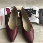 Кожаные туфли лодочки