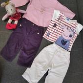 Пакет одежды для девочки на р 68-72 см