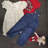 Пакет одежды для девочки на р 68-74 см