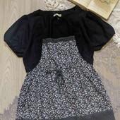 миленькая блуза с имитацией болеро,новая,рр С-М