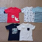 р-ры. 98-104, 110-116, набор футболок 2 шт. Лупилу Lupilu, Германия
