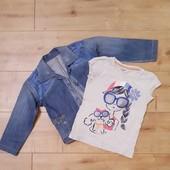 ❤Джинсовый пиджак+футболка Gimboree Смотрим замеры