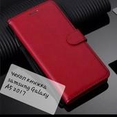 Стильный красный чехол книжка для моб тел Samsung Galaxy A5 2017 цвет ф1,2