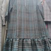 Молодежное платье в клетку. Рр. s, m, l
