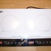 Плита индукционная 2 конфорки стеклокерамика белая Ergo IHP-2606