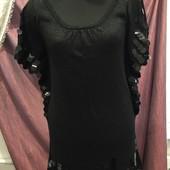 Новое шикарное мини платье ТМ Oodji с метал.нитью, р.44-48, смотрите замеры