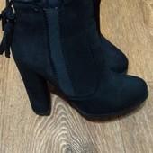Шикарные ботинки замш