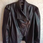 Натуральная кожаная демисизонная куртка-косуха