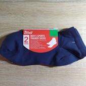 Комплект 2 шт мужские спортивные короткие носки Crivit Германия размер 43-46