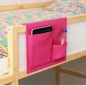 Stickat Стиккат Кишеня для ліжка, рожевий39x30 см.Ikea