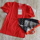 женская стильная футболка с шейным платком monte cervino