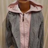Пиджачек детский с капюшоном обманкой 6-9лет