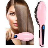 Расческа-выпрямитель Fast hair straightener 906 розовая
