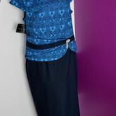 Р.54 фирменное платье nor-bi польша.стиль и качество! для пышных леди