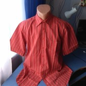 Мужская рубашка с коротким рукавом, р.М( ворот 39/40)