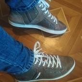Кеды-ботинки кожа + экокожа. Стелька 24,5 см.
