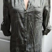 одна на выбор .Мягкая легкая блузка- рубашка,100% вискоза, 3 размера , СТОК