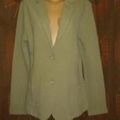 Трикотажный фактурный пиджак в идеальном состоянии