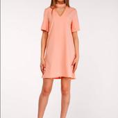Платье с жемчугом цвет персик.Размер М-Л-ка