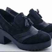 Чёрные лоферы, туфли, ботинки