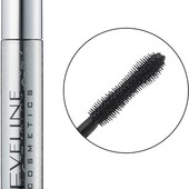 Тушь для ресниц ультраудлинняющая Eveline cosmetics volumix Fiberlast, черная