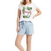esmara . хлопковая футболка с принтом S36/38+6замеры