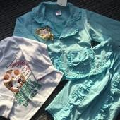 Розпродаж Костюмчик тройка для дівчинки Піджачок кофточка штанішки Дуже гарний колір Останній