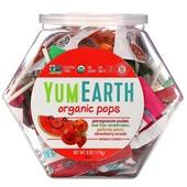 Органические леденцы на палочке YumEarth Ассорти: гранат, клубника, персик, арбуз 170 г, Америка