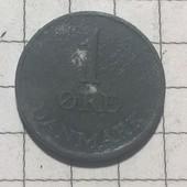 Монета Дании 1 эре 1953