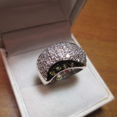 Роскошное крупное серебряное кольцо -серебро 925пр.