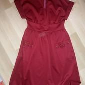 Безумно красивое платье, бордовое плотное, большой размер