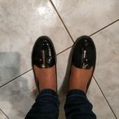 Лаковые туфли балетки ст.24