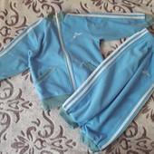 Голубой флисовый костюм на 3-4 года