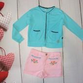 Лёгкие розовые шортики и летняя кофточка в подарок! 4-5л