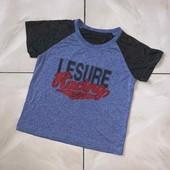 Стоп! ❤ Фирменная классная футболочка,5-6 лет❤Собирайте лоты,экономьте на доставке