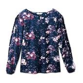 Цветочная блуза свободного кроя от Tchibo(Германия), размеры наши: 44-46 (38 евро)
