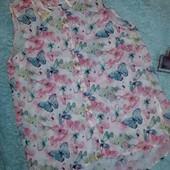 Обалденная блузочка в бабочках,на девочку 12-14 лет