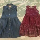 Джинсовый сарафан Levis оригинал США на 5-6л и нарядное платье George на 5 лет одним лотом